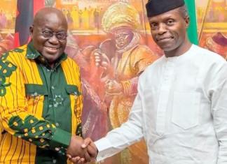 Osinbajo receives Ghanaian President, Nana Akufo-Addo