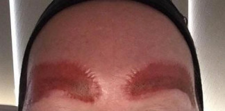 Woman sued after sharing eyebrow tattoo horror