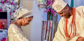 PHOTOS OF THE DAY: Damilola Osinbajo and Oluseun Bakare during their traditional engagement ceremony