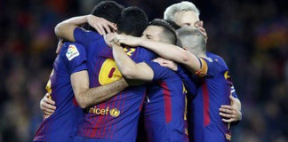 La Liga: Record-breaking Barca back on track after beating Valencia 2-1