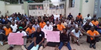 Disaster! NEMA workers protest
