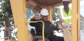 PHOTOS OF THE DAY: Akpabio flags off road construction in Rivers State