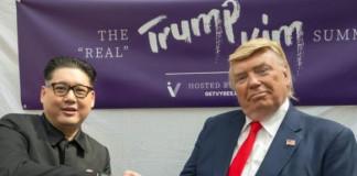 Trump, Kim lookalikes hold mock Singapore summit