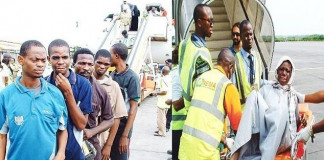157 including 9 pregnant women return from Libya
