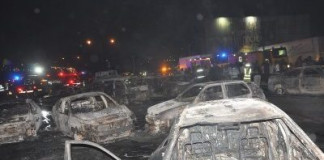 PHOTOS OF THE DAY: Petrol tanker fire: Scene of disaster