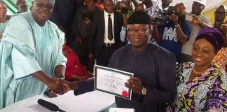 Ekiti guber: Fayemi receives Certificate of Return, promises good governance