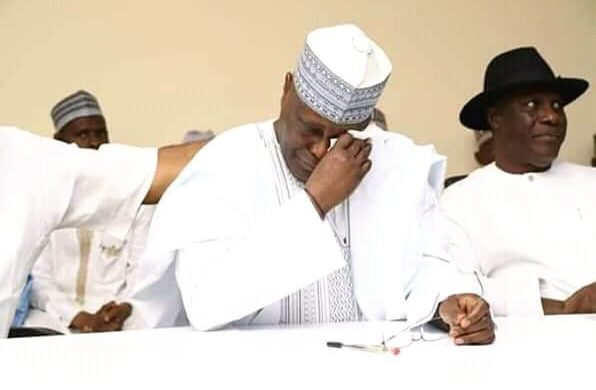 2019: Atiku weeps as supporters obtain his presidential nomination form
