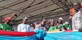 Osun guber: Osinbajo, Oshiomhole, Tinubu, Ganduje storm Osogbo for APC rally