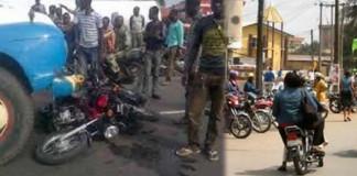 Truck crushes motorcyclist, passenger on Lagos-Ibadan expressway