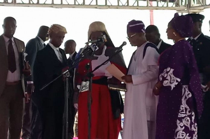 JUST IN: Oyetola sworn in as Osun governor