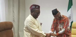 President Buhari felicitates with Obong Attah at 80 Next Edition