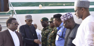 COAS Conference: Buhari arrives in Maiduguri