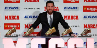 Messi receives 5th GoIden Shoe in Barcelona, says I never expected to have so much success