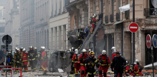 Two dead in Paris gas blast amid lockdown for yellow-vest protests