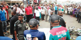 Wike supervises evacuation of accident victim from scene