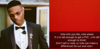 Wizkid sensitises fans to vote