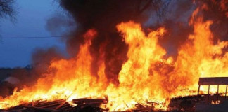 BREAKING INEC office on fire in Imo