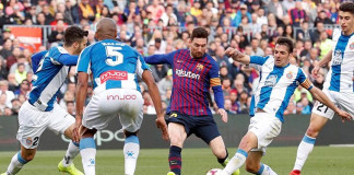 Messi Guides Barca to Derby Victory over Espanyol