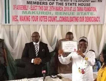 Guber, Assembly Polls: Ortom, Deputy, 30 Members Receive Certificate Of Return
