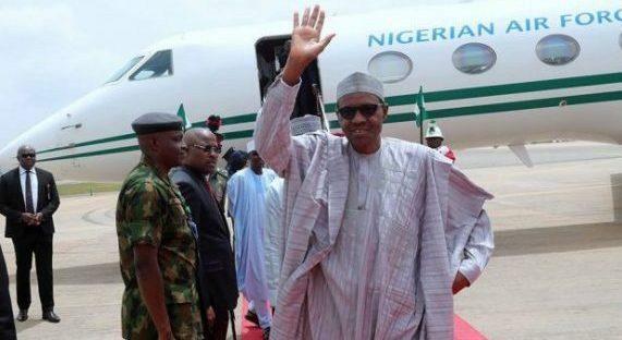 President Buhari Jets Off to UK