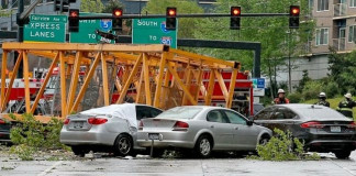 Fallen Crane Kills Four
