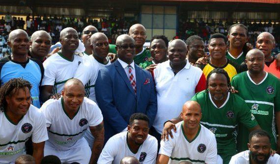 African Football Legends Honour Ambode