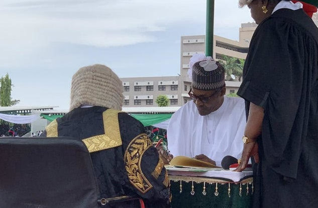 Breaking: Buhari Sworn in as President for Another Four Years