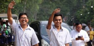 Reuters journalists freed in Myanmar