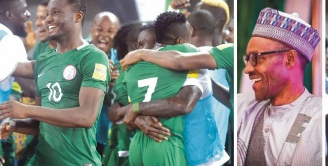 Buhari Salutes Super Eagles for Beating Indomitable Lion of Cameroon