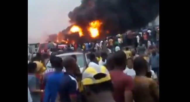 Early Morning Explosion: Two Die, Over 30 Vehicles Burnt