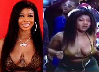 Tacha Suffers Wardrobe Malfunction, Exposes Her Bosom (photos)