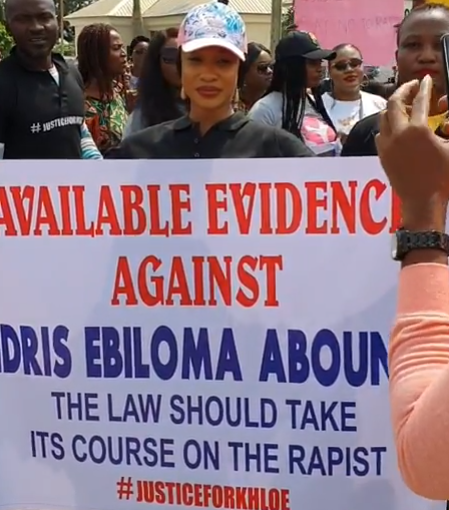Tonto Dikeh Leads Protest Against Man Who Raped 4-year-old Girl