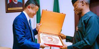 Osinbajo, Alibaba Co-founder Discuss Opportunities In Nigeria's Digital Economy