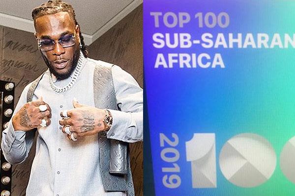 Burna Boy Tops Apple's 2019 Most-streamed Artiste In sub-Sahara Africa