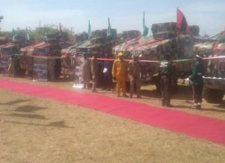 Buhari Unveils First Indigenous MRAP, Other Military Vehicles