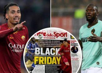 Lukaku, Smalling Slam 'Insensitive' Italian Sports Daily 'Black Friday' Front Page