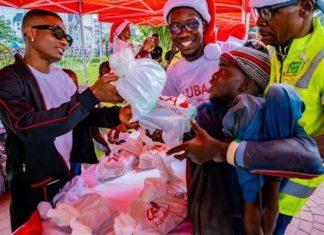 Uzoka, Wizkid Lead UBA Foundation Food Bank Give Away Programme