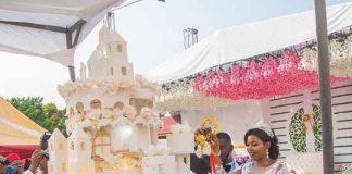Nigerian Couple Breaks Internet With Gigantic Wedding Cake