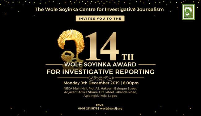 Wole Soyinka Centre for Investigative Journalism Awards (Photos)