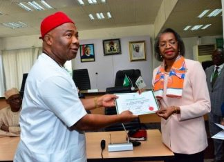 Hope Uzodinma Receives Certificate Of Return As Imo Governor-Elect