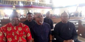 JUST IN: Abaribe, Peter Obi, Umeh, Imo Traditional Rulers Storm Nnamdi Kanu Parents' Burial [PHOTOS]