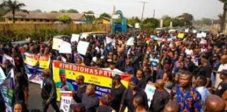 Ihedioha: Imo Indigenes Protest, Demand Justice
