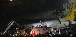 Passenger plane Skids Off Runway, Kills One, Injures 150