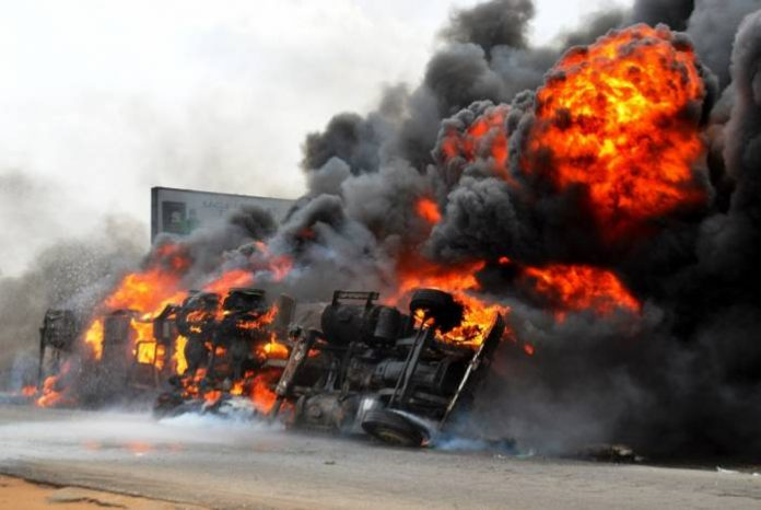 Tragedy: Mother, Daughter, Vulcaniser Burnt As Tanker Explodes In Ogun
