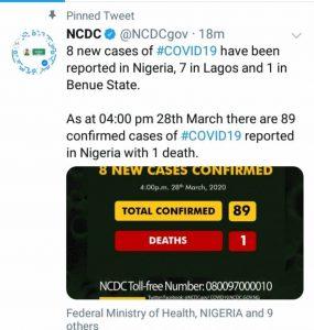 BREAKING: Nigeria Confirms 8 New Cases Of Coronavirus