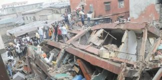 One Feared Dead As Keystone Bank Building Collapses In Lagos