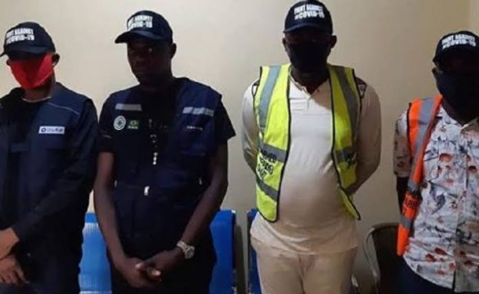 Anambra Police Arrest 4 Fake Health Officials With Fake Sanitisers