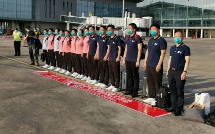 JUST IN: 15-Member Chinese Medical Team Arrives Nigeria