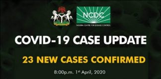 BREAKING: COVID-19: Akwa Ibom Records 5 Cases As NCDC Announces 23 New Cases