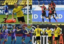 Bundesliga Defend Players Celebratory Kisses, Hugs